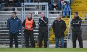 10 January 2016; Kerry manager Eamonn Fitzmaurice, left, with his selectors, from 2nd left, Liam Hassett, Diarmuid Murphy, Mikey Sheehy and trainer Padraig Corcoran. McGrath Cup, Group A, Round 2, Kerry v Clare, Fitzgerald Stadium, Killarney, Co. Kerry. Picture credit: Brendan Moran / SPORTSFILE