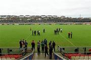 17 January 2016; Derry players have a walk around the pitch before the start of the game. Bank of Ireland Dr McKenna Cup, Semi-Final, Cavan v Derry. Athletic Grounds, Armagh. Picture credit: Philip Fitzpatrick / SPORTSFILE