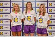 1 June 2016; Lidl National Football League Division 4 Team of the League 2016 Antrim players, from left, Áine Tubridy, Anna McCann, and Mairead Cooper at the Lidl Ladies Team of The Leagues Award Night. The Lidl Teams of the League were presented at Croke Park with 60 players recognised for their performances throughout the 2016 Lidl National Football League Campaign. The 4 teams were selected by opposition managers who selected the best players in their position with the players receiving the most votes being selected in their position. Croke Park, Dublin. Photo by Cody Glenn/Sportsfile