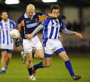 1 October 2009; Mark Vaughan, Kilmacud Crokes, in action against Daniel Davey, Ballyboden St Enda's. Dublin County Senior Football Semi-Final. Parnell Park, Dublin. Picture credit: Brian Lawless / SPORTSFILE