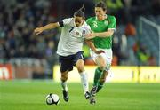 10 October 2009; Mauro Camoranesi, Italy, in action against Keith Andrews, Republic of Ireland. 2010 FIFA World Cup Qualifier, Republic of Ireland v Italy, Croke Park, Dublin. Picture credit: Brendan Moran / SPORTSFILE