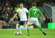 10 October 2009; Gianluca Zambrotta, Italy, in action against Aidan McGeady, Republic of Ireland. 2010 FIFA World Cup Qualifier, Republic of Ireland v Italy, Croke Park, Dublin. Picture credit: Brendan Moran / SPORTSFILE