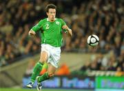 10 October 2009; Sean St Ledger, Republic of Ireland. 2010 FIFA World Cup Qualifier, Republic of Ireland v Italy, Croke Park, Dublin. Picture credit: Brendan Moran / SPORTSFILE