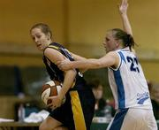 14 January 2007; Cathy Grant, UL Aughinish, in action against Michelle Aspell, Bausch and Lomb Wildcats. Women's Superleague National Cup Semi-Final, UL Aughinish v Bausch and Lomb Wildcats, National Basketball Arena, Tallaght, Dublin. Picture credit: Brendan Moran / SPORTSFILE
