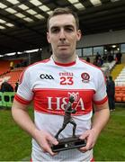 17 January 2016; Bank of Ireland man of the match Ryan Bell, Derry. Bank of Ireland Dr McKenna Cup, Semi-Final, Cavan v Derry. Athletic Grounds, Armagh. Picture credit: Philip Fitzpatrick / SPORTSFILE