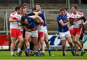 17 January 2016; Players from both teams tussle off the ball. Bank of Ireland Dr McKenna Cup, Semi-Final, Cavan v Derry. Athletic Grounds, Armagh. Picture credit: Philip Fitzpatrick / SPORTSFILE