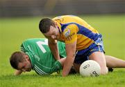 25 October 2009; Declan Sweeney, Knockmore, in action against Daragh McMeel, Charlestown Sarsfields. Mayo County Senior Football Final, Knockmore v Charlestown Sarsfields, McHale Park, Castlebar, Co. Mayo. Picture credit: Brian Lawless / SPORTSFILE