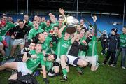 25 October 2009; The Charlestown Sarsfields players celebrate with the cup. Mayo County Senior Football Final, Knockmore v Charlestown Sarsfields, McHale Park, Castlebar, Co. Mayo. Picture credit: Brian Lawless / SPORTSFILE