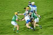 19 January 2016; Shane McNulty, Waterford, in action against Paul Browne, Tom Morrissey, and Sean Tobin, Limerick. Munster Senior Hurling League, Round 2 Refixture, Gaelic Grounds, Limerick. Picture credit: Diarmuid Greene / SPORTSFILE