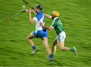 19 January 2016; Maurice Shanahan, Waterford, in action against Paul Browne, Limerick. Munster Senior Hurling League, Round 2 Refixture, Gaelic Grounds, Limerick. Picture credit: Diarmuid Greene / SPORTSFILE