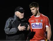 22 January 2016; Cork selector Eamonn Ryan with Eoin Cadogan. McGrath Cup Football Final, Cork v Clare, Mallow GAA Complex, Mallow, Co. Cork. Picture credit: David Maher / SPORTSFILE