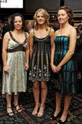 7 November 2009; Nominees, from left, Aoife Neary, Kilkenny, Niamh Mulcahy, Limerick, and Claire Grogan, Tipperary, at the 2009 Camogie All-Stars Awards, in association with O'Neills. Citywest Hotel, Conference, Leisure & Golf Resort, Dublin. Picture credit: Pat Murphy / SPORTSFILE