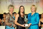 7 November 2009; Anne Dalton, of Kilkenny, is presented with her Camogie All-Star award by Joan O'Flynn, President of the Camogie Association, and Mary Hanafin T.D., Minister for Social and Family Affairs, during the 2009 Camogie All-Stars Awards, in association with O'Neills. Citywest Hotel, Conference, Leisure & Golf Resort, Dublin. Picture credit: Pat Murphy / SPORTSFILE