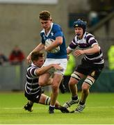24 January 2016; Derry O'Connor, St Mary's College, is tackled by Jeff Clarkin, left, and Adam Melia, Terenure College. Bank of Ireland Leinster Schools Senior Cup, 1st Round, St Mary's College v Terenure College, Donnybrook Stadium, Donnybrook, Dublin. Picture credit: Dáire Brennan / SPORTSFILE