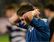 24 January 2016; A dejected Cian Buckley, St Mary's College, after the game. Bank of Ireland Leinster Schools Senior Cup, 1st Round, St Mary's College v Terenure College, Donnybrook Stadium, Donnybrook, Dublin. Picture credit: Dáire Brennan / SPORTSFILE