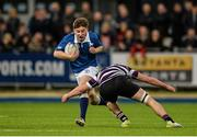 24 January 2016; Alexei Schuster, St Mary's College, is tackled by Conor O'SullEvan, Terenure College. Bank of Ireland Leinster Schools Senior Cup, 1st Round, St Mary's College v Terenure College, Donnybrook Stadium, Donnybrook, Dublin. Picture credit: Dáire Brennan / SPORTSFILE