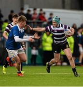 24 January 2016; Jack Dignam, Terenure College, is tackled by Michael McCormack, St Mary's College. Bank of Ireland Leinster Schools Senior Cup, 1st Round, St Mary's College v Terenure College, Donnybrook Stadium, Donnybrook, Dublin. Picture credit: Dáire Brennan / SPORTSFILE