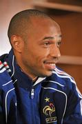 13 November 2009; French captain Thierry Henry during a press conference ahead of their FIFA 2010 World Cup Qualifying Play-Off 1st leg match against Ireland on Saturday. Radisson Hotel, Dublin Airport, Dublin. Picture credit: David Maher / SPORTSFILE