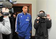 13 November 2009; French captain Thierry Henry, arriving for a press conference ahead of their FIFA 2010 World Cup Qualifying Play-Off 1st leg match against Ireland on Saturday. Radisson Hotel, Dublin Airport, Dublin. Picture credit: David Maher / SPORTSFILE