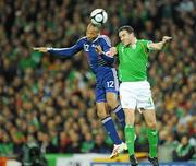 14 November 2009; Thierry Henry, France, in action against John O'Shea, Republic of Ireland. FIFA 2010 World Cup Qualifying Play-off 1st Leg, Republic of Ireland v France, Croke Park, Dublin. Picture credit: Matt Browne / SPORTSFILE