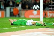 14 November 2009; Liam Lawrence, Republic of Ireland, reacts after missing an opportunity. FIFA 2010 World Cup Qualifying Play-off 1st Leg, Republic of Ireland v France, Croke Park, Dublin. Picture credit: Paul Mohan / SPORTSFILE