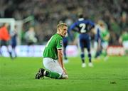 14 November 2009; Damien Duff, Republic of Ireland, during the closing moments against France. FIFA 2010 World Cup Qualifying Play-off 1st Leg, Republic of Ireland v France, Croke Park, Dublin. Picture credit: David Maher / SPORTSFILE