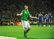14 November 2009; Robbie Keane, Republic of Ireland, reacts during the second half. FIFA 2010 World Cup Qualifying Play-off 1st Leg, Republic of Ireland v France, Croke Park, Dublin. Picture credit: Stephen McCarthy / SPORTSFILE