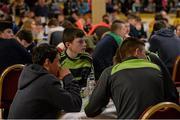 30 January 2016; The Éire Óg, Kildare, team of, Pilib MacTiarnaigh, Micheál Ó Briain, Seán Ó Dóláin and Seán Ó Néill during the Tráth na gCeist at the Scór na nÓg. INEC, Gleneagle Hotel, Killarney, Co. Kerry. Picture credit: Piaras Ó Mídheach / SPORTSFILE