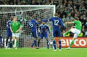14 November 2009; Kevin Kilbane, Republic of Ireland, attempts a shot on goal. FIFA 2010 World Cup Qualifying Play-off 1st Leg, Republic of Ireland v France, Croke Park, Dublin. Picture credit: Paul Mohan / SPORTSFILE