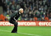 14 November 2009; Republic of Ireland manager Giovanni Trapattoni, looks on during the game. FIFA 2010 World Cup Qualifying Play-off 1st Leg, Republic of Ireland v France, Croke Park, Dublin. Picture credit: David Maher / SPORTSFILE