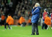 14 November 2009; France manager Raymond Domenech watches his team in action. FIFA 2010 World Cup Qualifying Play-off 1st Leg, Republic of Ireland v France, Croke Park, Dublin. Picture credit: Matt Browne / SPORTSFILE