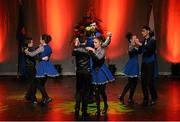 30 January 2016; The Spa team of, Gary O'SullEvan, Ava O'SullEvan, Katie Cronin, Liam Spillane, Anna O'Connor, Eoin O'Donoghue, Áine Brosnan and Kianan O'Doherty, representing Kerry and Munster, in the Rince Seit competition. Scór na nÓg. INEC, Gleneagle Hotel, Killarney, Co. Kerry. Picture credit: Piaras Ó Mídheach / SPORTSFILE