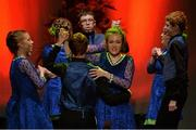 30 January 2016; The St Martin's team of, Conan Daly, Keri Hamill, Jamie Winters, Keri Martin, Jack Lynch, Ciara Hanlon, Shauna Clinton and Eimear Rourke, representing Louth and Leinster, in the Rince Seit competition. Scór na nÓg. INEC, Gleneagle Hotel, Killarney, Co. Kerry. Picture credit: Piaras Ó Mídheach / SPORTSFILE