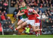 31 January 2016; Mark Collins, Cork, in action against Donal Vaughan, Mayo. Allianz Football League, Division 1, Round 1, Cork v Mayo. Páirc Ui Rinn, Cork. Picture credit: Diarmuid Greene / SPORTSFILE