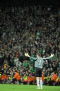 14 November 2009; Shay Given, Republic of Ireland. FIFA 2010 World Cup Qualifying Play-off 1st Leg, Republic of Ireland v France, Croke Park, Dublin. Picture credit: Paul Mohan / SPORTSFILE