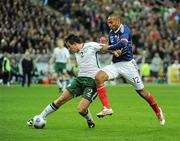 18 November 2009; Sean St. Ledger, Republic of Ireland, in action against Thierry Henry, France. FIFA 2010 World Cup Qualifying Play-off 2nd Leg, Republic of Ireland v France, Stade de France, Saint-Denis, Paris, France. Picture credit: Stephen McCarthy / SPORTSFILE