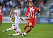 22 November 2009; Colm James, Sporting Fingal, in action against Eoin Doyle, Sligo Rovers. FAI Ford Cup Final, Sligo Rovers v Sporting Fingal, Tallaght Stadium, Dublin. Picture credit: David Maher / SPORTSFILE