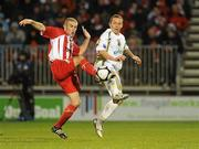 22 November 2009; Gary O'Neill, Sporting Fingal, in action against Alan Keane, Sligo Rovers. FAI Ford Cup Final, Sligo Rovers v Sporting Fingal, Tallaght Stadium, Dublin. Picture credit: Stephen McCarthy / SPORTSFILE