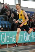 6 February 2016; Jack Manning, Kilkenny City Harriers A.C., in action during the Senior Men's Guest 200m. GloHealth National Indoor League Final. AIT, Dublin Rd, Athlone, Co. Westmeath. Picture credit: Sam Barnes / SPORTSFILE