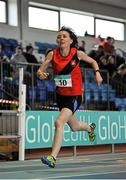 6 February 2016; Carol Kearney, Lucan Harriers A.C., in action during the Senior Women's Guest 200m. GloHealth National Indoor League Final. AIT, Dublin Rd, Athlone, Co. Westmeath. Picture credit: Sam Barnes / SPORTSFILE
