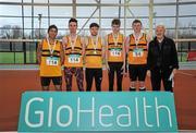6 February 2016; Leevale A.C, Mens Senior League Bronze Medalists. GloHealth National Indoor League Final. AIT, Dublin Rd, Athlone, Co. Westmeath. Picture credit: Sam Barnes / SPORTSFILE