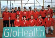 6 February 2016; Galway City Harriers, Mens Senior League Silver Medalists. GloHealth National Indoor League Final. AIT, Dublin Rd, Athlone, Co. Westmeath. Picture credit: Sam Barnes / SPORTSFILE