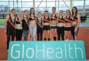 6 February 2016; Clonliffe Harriers, Women's Senior League Silver Medallists. GloHealth National Indoor League Final. AIT, Dublin Rd, Athlone, Co. Westmeath. Picture credit: Sam Barnes / SPORTSFILE