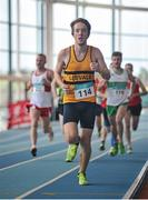 6 February 2016; Phillip Crowley, in action during the Senior Mens League 1500m. GloHealth National Indoor League Final. AIT, Dublin Rd, Athlone, Co. Westmeath. Picture credit: Sam Barnes / SPORTSFILE