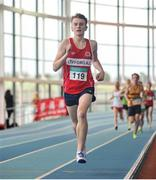 6 February 2016; Niall Elliot, Lifford Strabane A.C., in action during the Senior Mens League 1500m. GloHealth National Indoor League Final. AIT, Dublin Rd, Athlone, Co. Westmeath. Picture credit: Sam Barnes / SPORTSFILE