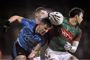 6 February 2016; John Small, Dublin, has the ball picked from him by Ger Cafferkey, Mayo. Allianz Football League, Division 1, Round 2, Mayo v Dublin. Elverys MacHale Park, Castlebar, Co. Mayo. Picture credit: Ray McManus / SPORTSFILE