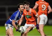 6 February 2016; Gareth Dillon, Laois, in action against Niall Grimley. Armagh. Allianz Football League, Division 2, Round 2, Armagh v Laois. Athletic Grounds, Armagh. Picture credit: Oliver McVeigh / SPORTSFILE