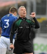 29 November 2009; Referee Pat McEnaney. AIB GAA Football Ulster Club Senior Championship Final, St. Gall's v Loup, Páirc Esler, Newry, Co. Down. Picture credit: Oliver McVeigh / SPORTSFILE