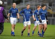 29 November 2009; St. Gall's players, from left to right, Anthony Healy, Kieran McGourty, Terry O'Neill and Mark Kelly leave the field at half time. AIB GAA Football Ulster Club Senior Championship Final, St. Gall's v Loup, Páirc Esler, Newry, Co. Down. Picture credit: Oliver McVeigh / SPORTSFILE