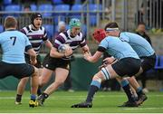 8 February 2016; Conor O'SullEvan, Terenure College, in action against Jack Dunne, right, and Ryan Baird, St Michaels College. St Michael's College v Terenure College - Bank of Ireland Leinster Schools Senior Cup 2nd Round. Donnybrook Stadium, Donnybrook, Dublin. Picture credit: Sam Barnes / SPORTSFILE